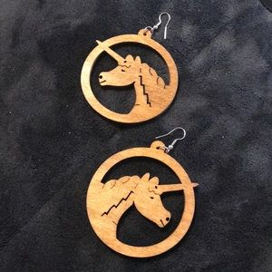 FREE with purchaseUnicorn wooden earrings